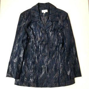 erin london Womens Long Jacket - M - Deep Blue